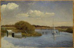 The Shore at Ringsjön   Gustaf Rydberg   Oil Painting