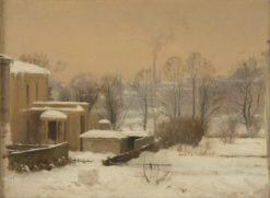 Urban Snow. Study | Gustaf Rydberg | Oil Painting