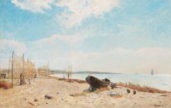 Fishin Nets   Gustaf Rydberg   Oil Painting