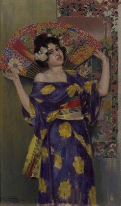 Geisha. Japanese woman | Vardkes Sureniants | Oil Painting
