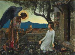 The Annunciation of the Virgin Mary | Harald Slott-Møller | Oil Painting