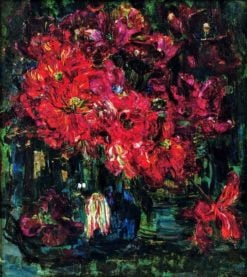 Still life with red tulips | Floris Verster | Oil Painting