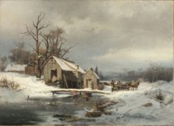 Winter Scene | Gustaf Rydberg | Oil Painting