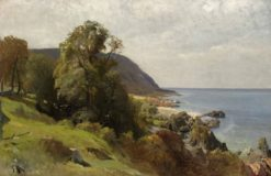 Coastal Scene from Arild | Gustaf Rydberg | Oil Painting