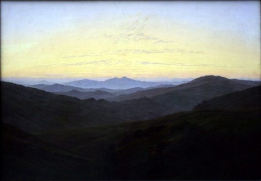 The Riesengebirge (also known as Before Sunrise in the Mountains) | Caspar David Friedrich | Oil Painting