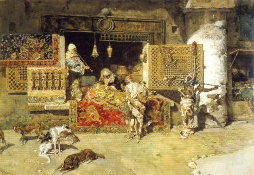 Carpet Seller   Mariàno Fortuny y Marsal   Oil Painting