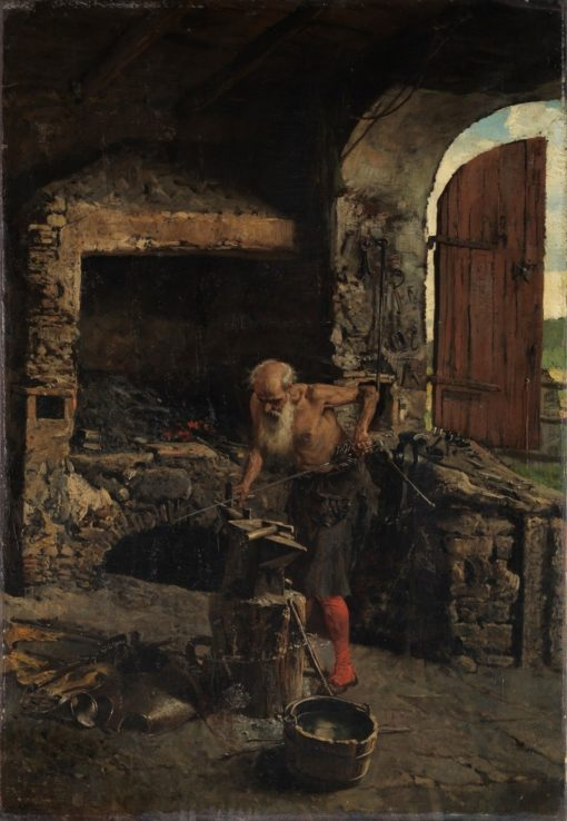 The swordsmith | Mariàno Fortuny y Marsal | Oil Painting