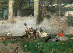 Lunch at the Alhambra | Mariàno Fortuny y Marsal | Oil Painting