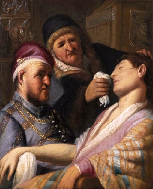 Unconscious Patient (also known as Allegory of Smell)   Rembrandt van Rijn   Oil Painting