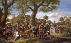 Peasants Merrymaking Outside an Inn (also known as Fair at Warmond) | Jan Havicksz. Steen | Oil Painting