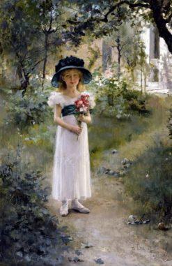 In the Garden | Albert Edelfelt | Oil Painting