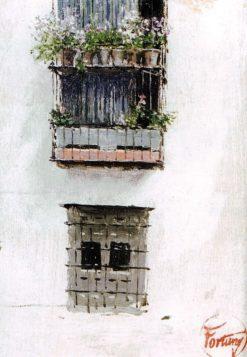 Granada Balcony | Mariàno Fortuny y Marsal | Oil Painting