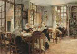 Beguine Convent Workroom in Ghent | Léon Augustin Lhermitte | Oil Painting