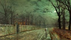 A Moonlit Evening | John Atkinson Grimshaw | Oil Painting