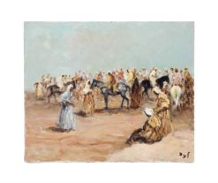 Before the Fantasia (also known as Morocco near Taroudant) | Marcel Dyf | Oil Painting