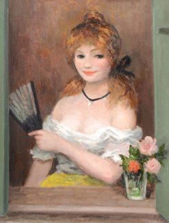 Girl with Fan (also known as Portrait of Claudine) | Marcel Dyf | Oil Painting