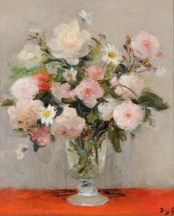 Roses and Poppies (also known as Garden Roses) | Marcel Dyf | Oil Painting