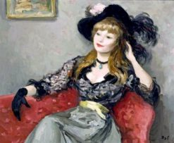 Claudine (also known as My Fair Lady)   Marcel Dyf   Oil Painting