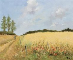 Landscape near St. Remy (also known as Wheatfield) | Marcel Dyf | Oil Painting