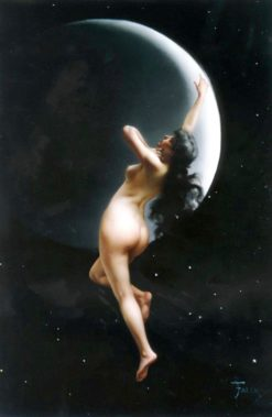 Night (also known as Moon Nymph)   Luis Ricardo Falero   Oil Painting