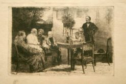 Conversation   Vladimir Yegorovich Makovsky   Oil Painting