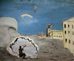 Parachutes   Alexander Drevin   Oil Painting