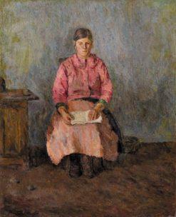 Portrait of the Artist's Nanny   Alexander Drevin   Oil Painting