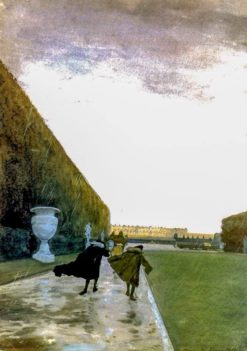 The King walked in any weather | Alexander Benois | Oil Painting