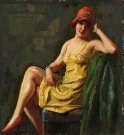 Girl in the Underwear   Hans Hassenteufel   Oil Painting