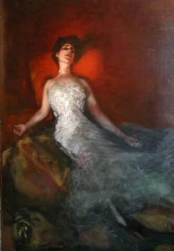 End of the evening | Albert von Keller | Oil Painting