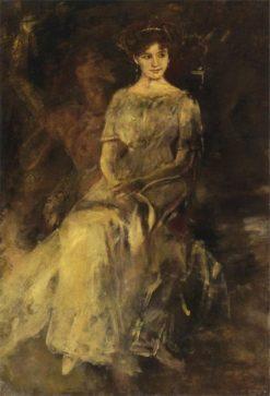 Elisabeth von Wichmann Seated | Albert von Keller | Oil Painting