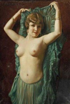 Dancer in Green | Hans Hassenteufel | Oil Painting