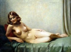 A reclining nude | Hans Hassenteufel | Oil Painting