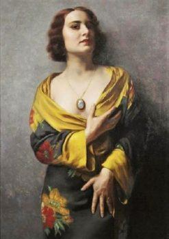 The Kimono | Hans Hassenteufel | Oil Painting