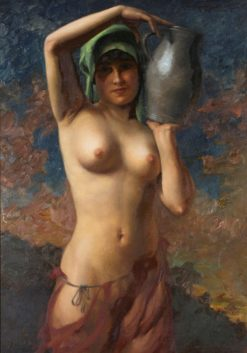 Nude with water jug | Hans Hassenteufel | Oil Painting
