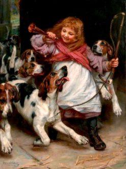 A False Alarm (also known as Christmas Morning) | Arthur John Elsley | Oil Painting