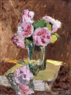 A still life with roses in a vase | Albert Lebourg | Oil Painting