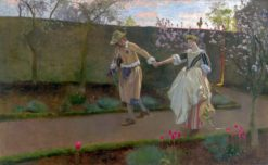 May Day Morning | Edwin Austin Abbey | Oil Painting