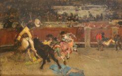 Corrida de toros. Picador herido | Mariàno Fortuny y Marsal | Oil Painting