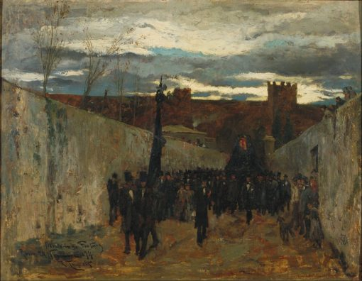 Burial of Fortuny   Ramón Tusquets Maignon   Oil Painting