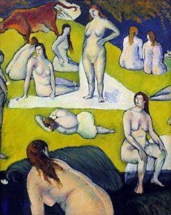 Baigneuses à la vache rouge | Emile Bernard | Oil Painting