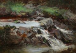 The Lornty Burn Blairgowrie (also known as Rocky River Study) | David Farquharson | Oil Painting