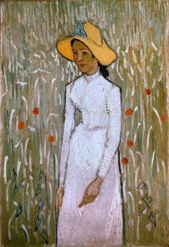 Woman in a field poppies | Emile Bernard | Oil Painting