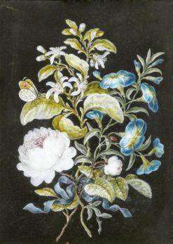 Flowers with butterflies | Barbara Regina Dietzsch | Oil Painting