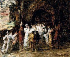 The wedding | Adolphe-Joseph-Thomas Monticelli | Oil Painting