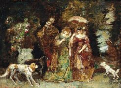 A gathering in the woods | Adolphe-Joseph-Thomas Monticelli | Oil Painting