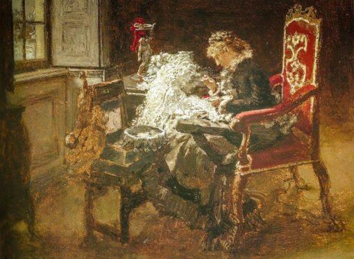 The Last Stitches   Albert von Keller   Oil Painting