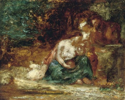 A family resting in a landscape | Adolphe-Joseph-Thomas Monticelli | Oil Painting