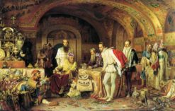 Ivan the Terrible Showing His Treasures to English Ambassador | Alexander Litovchenko | Oil Painting