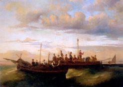 Italian Fishing Vessels at Dusk | Adolphe-Joseph-Thomas Monticelli | Oil Painting